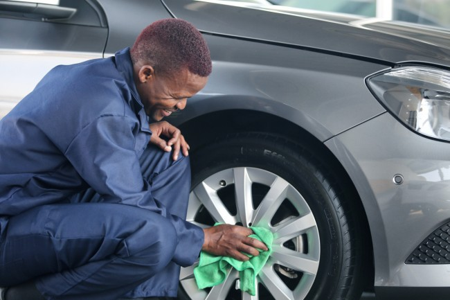 Washbay cleaning at Cleaning Africa Services
