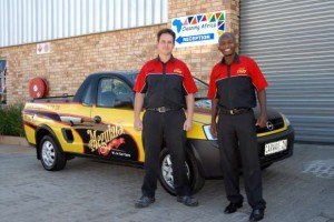 Cleaning Africa's Meguiars training team