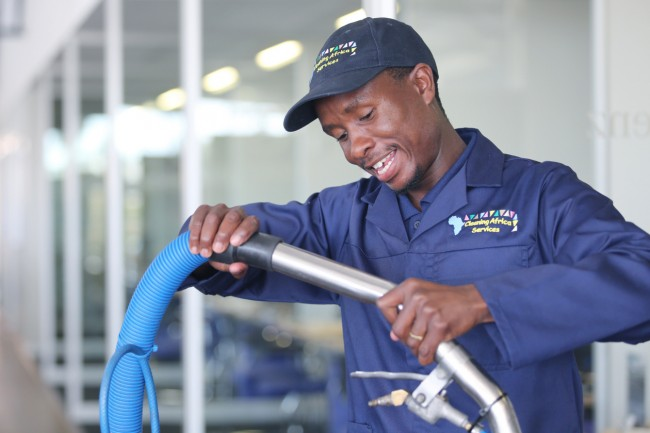Cleaning Africa Services staff is trained in all aspects of machine operating