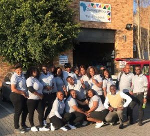 Recent Graduates from Cleaning Africa Services Training Program